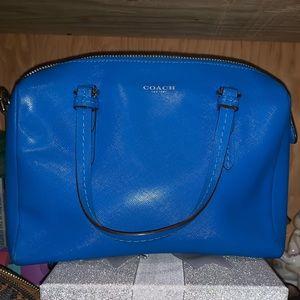 Like new Coach mini signature bag with long strap